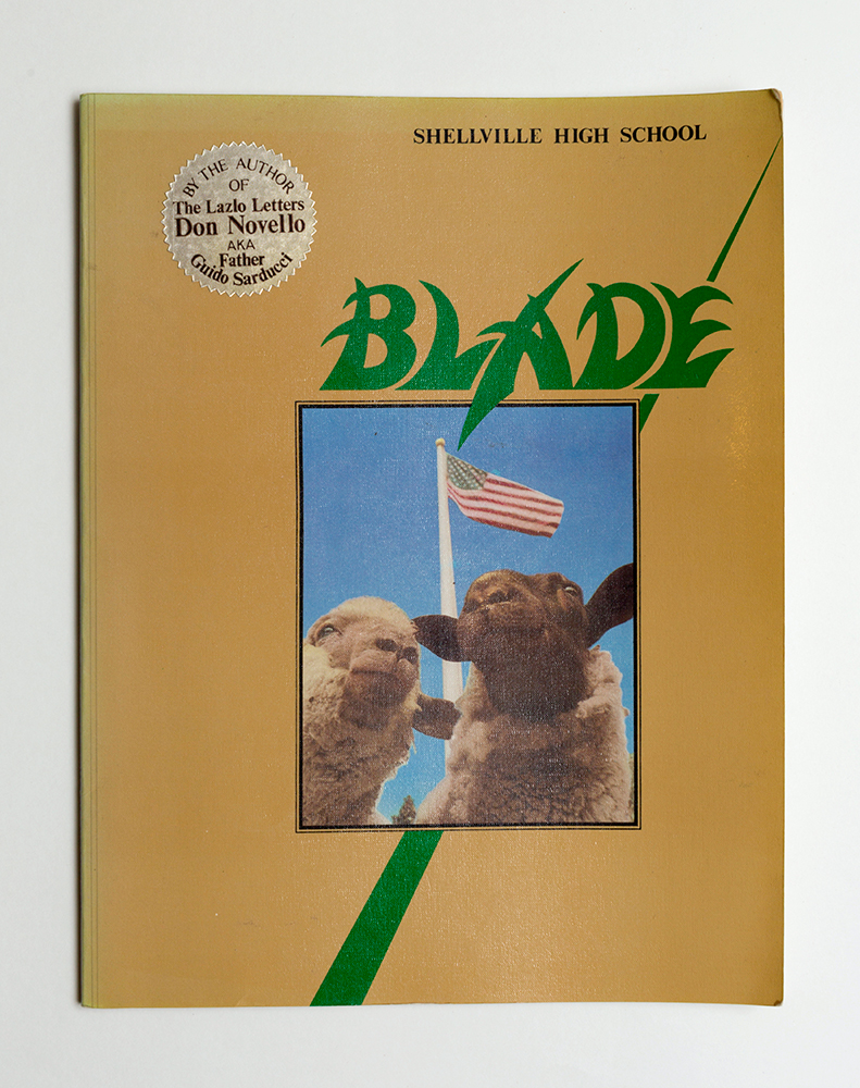 Don Novello, The Blade, 1984, courtesy Fulford
